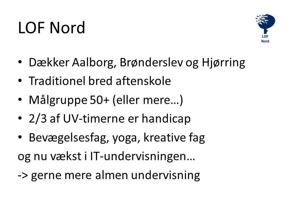 LOF Nord Dækker Aalborg, Brønderslev og Hjørring