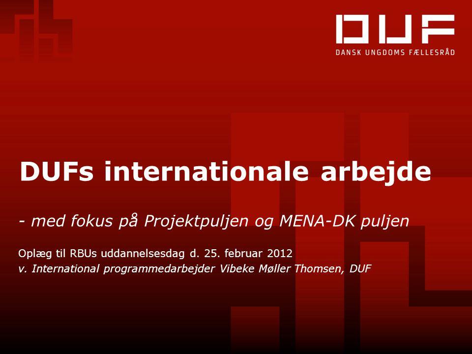 DUFs internationale arbejde