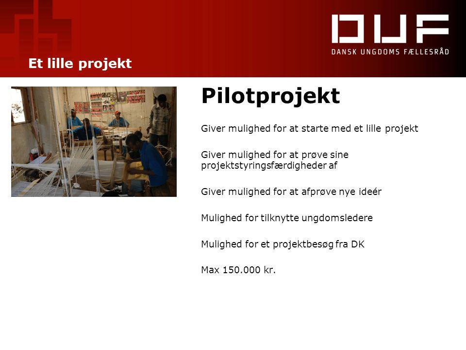 Pilotprojekt Et lille projekt