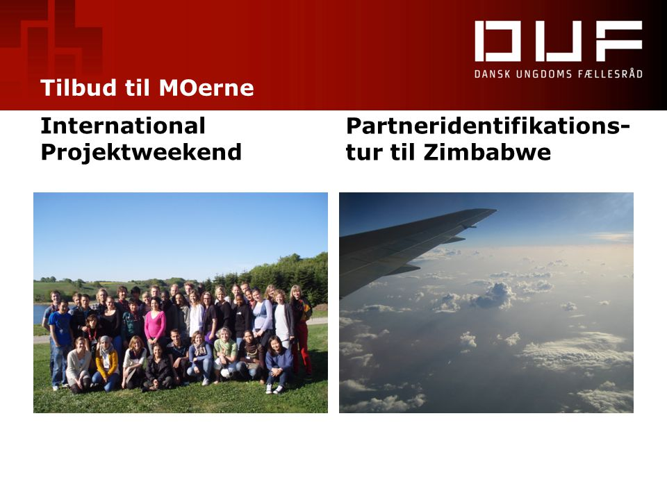 Tilbud til MOerne International Projektweekend Partneridentifikations-tur til Zimbabwe
