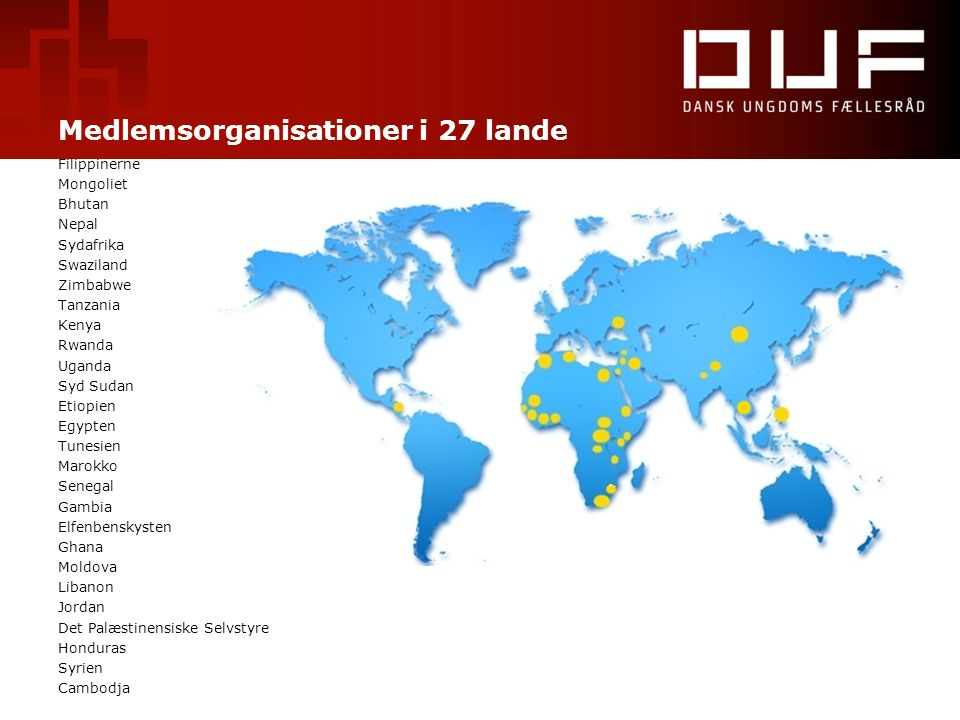 Medlemsorganisationer i 27 lande