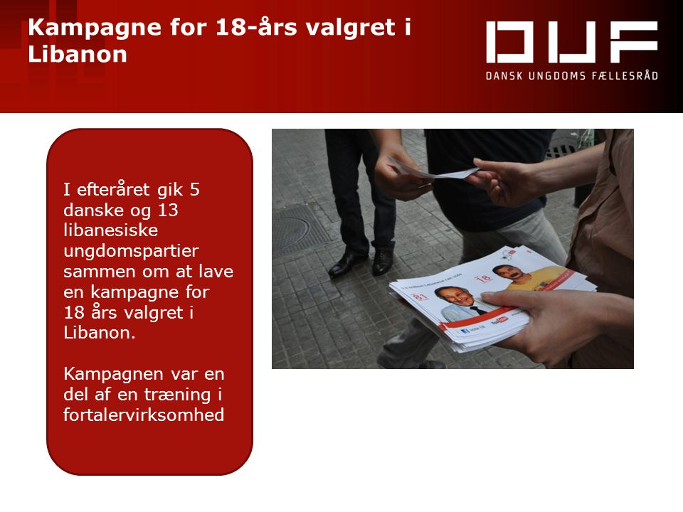 Kampagne for 18-års valgret i Libanon