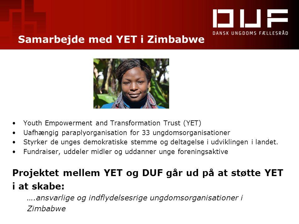 Samarbejde med YET i Zimbabwe