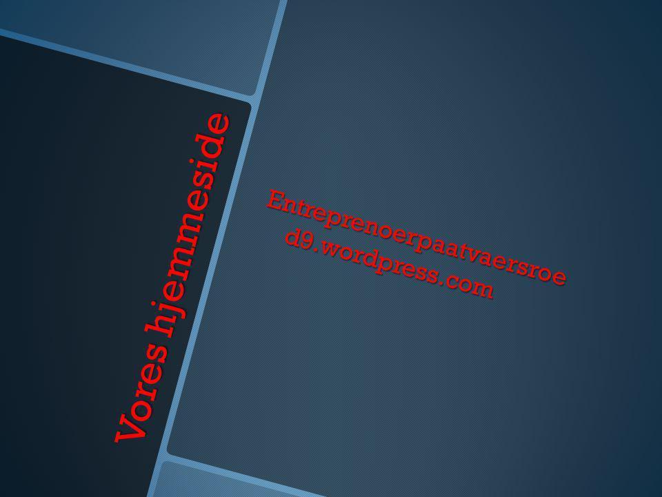 Entreprenoerpaatvaersroe d9.wordpress.com