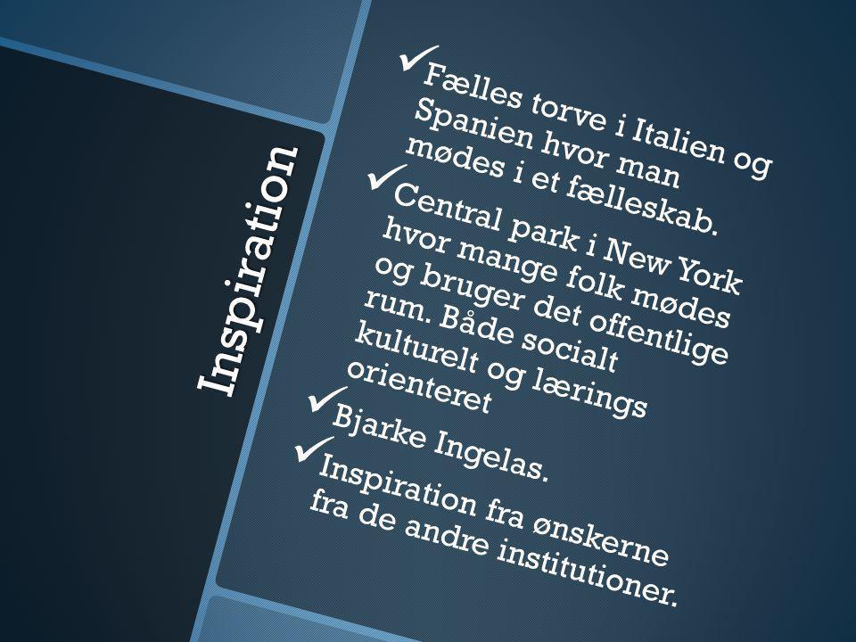Fælles torve i Italien og Spanien hvor man mødes i et fælleskab.