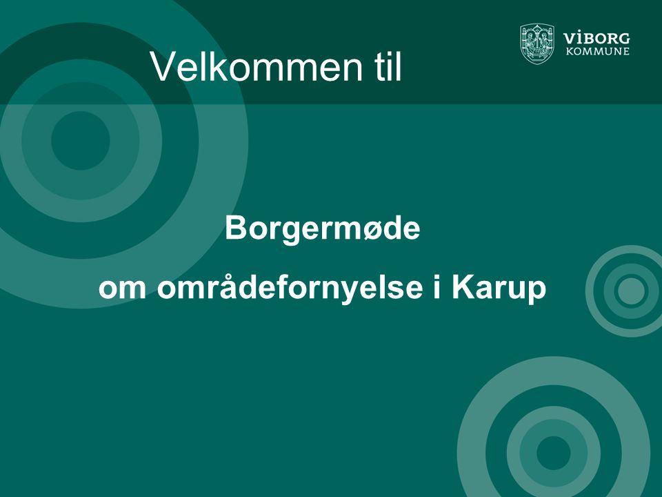 Borgermøde om områdefornyelse i Karup