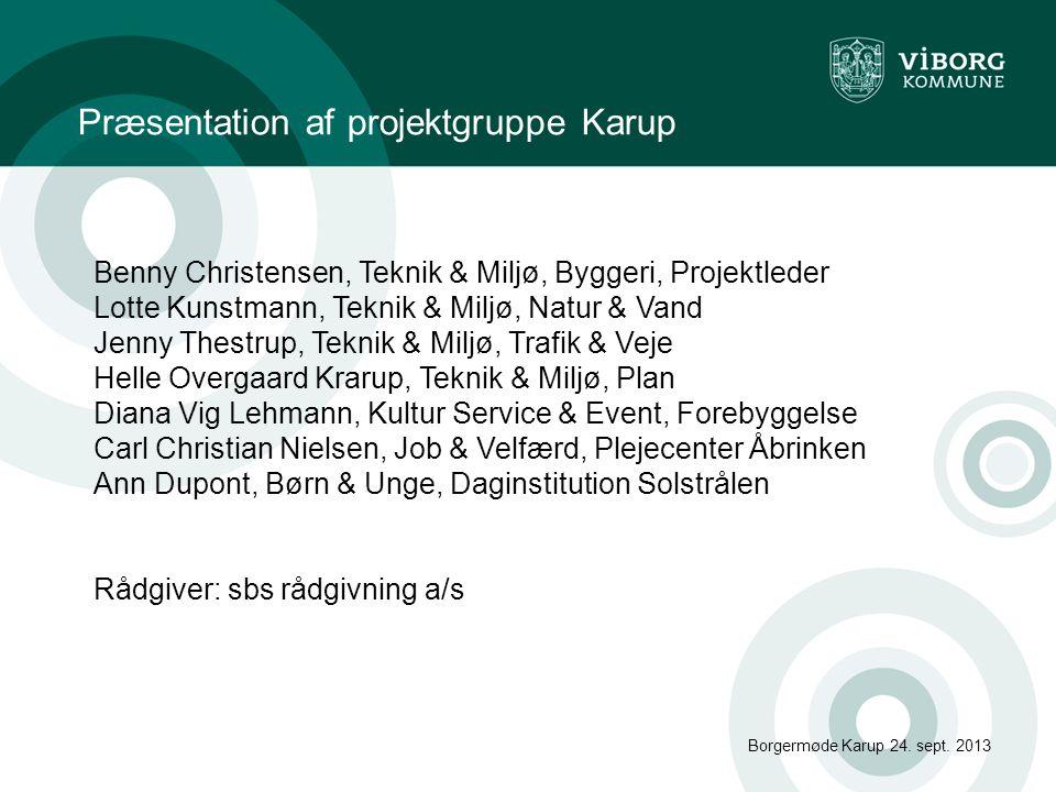 Præsentation af projektgruppe Karup