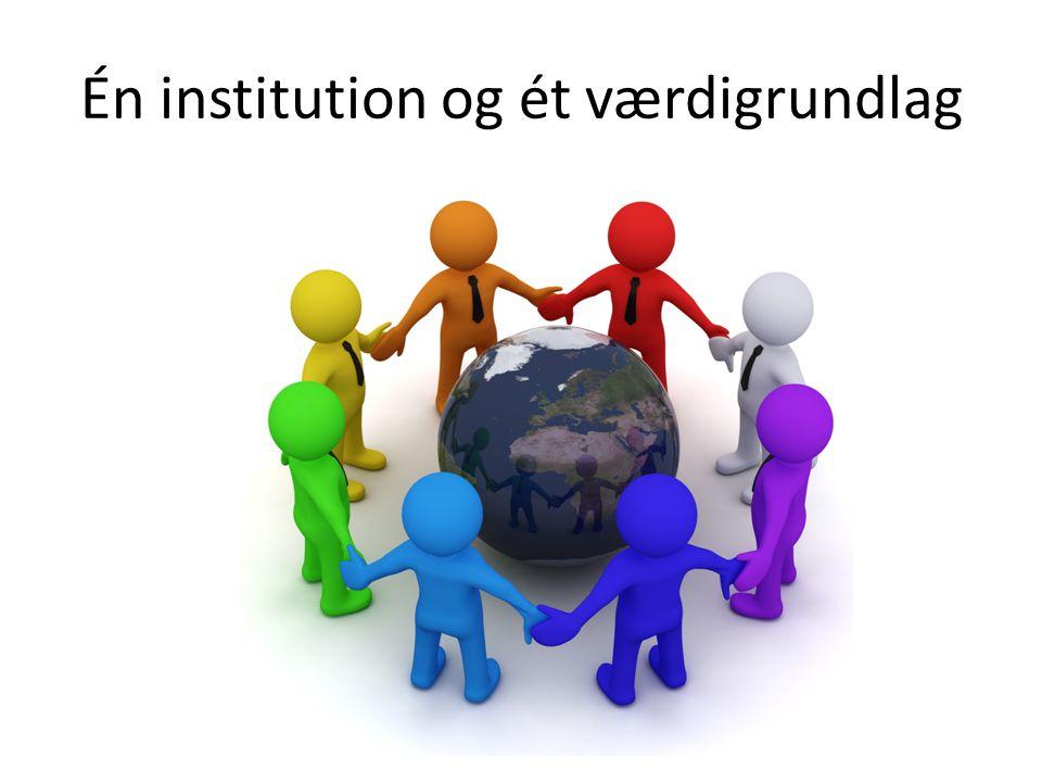Én institution og ét værdigrundlag