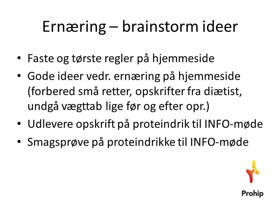 Ernæring – brainstorm ideer