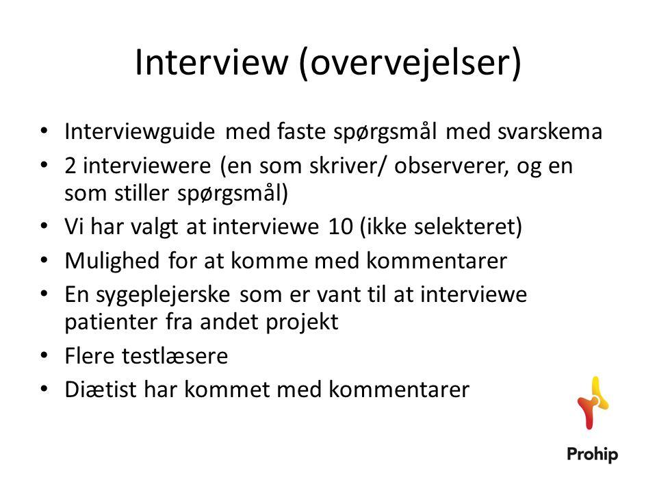Interview (overvejelser)