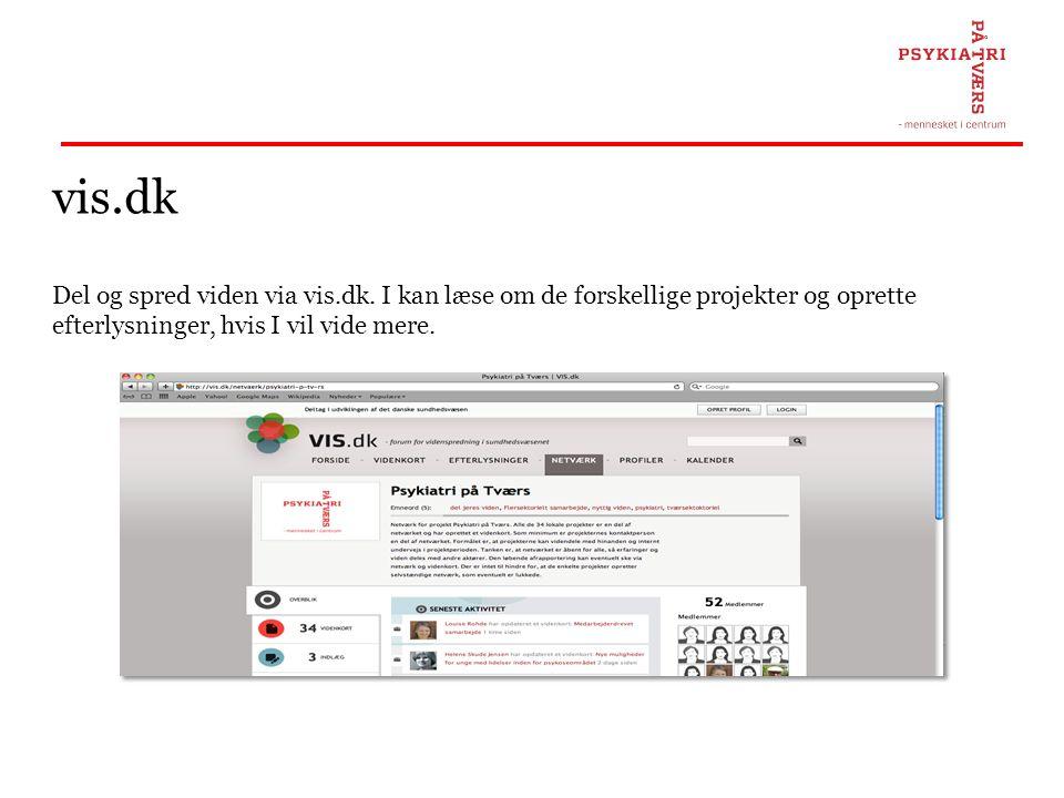 vis.dk Del og spred viden via vis.dk.