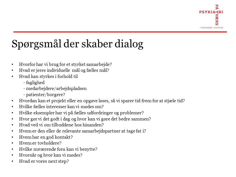 Spørgsmål der skaber dialog