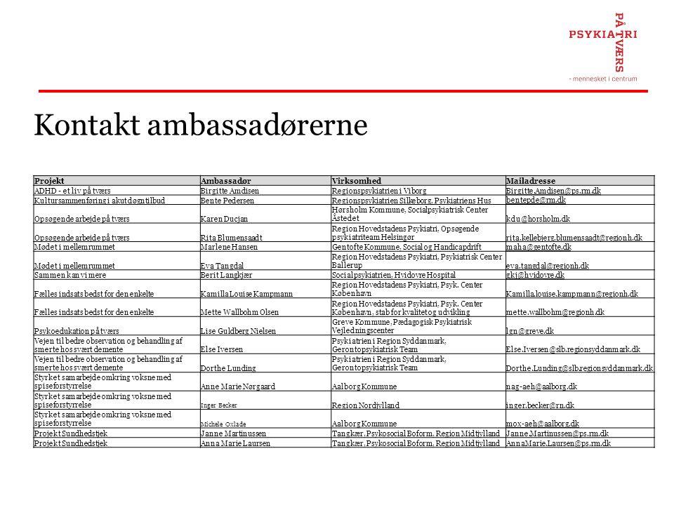 Kontakt ambassadørerne