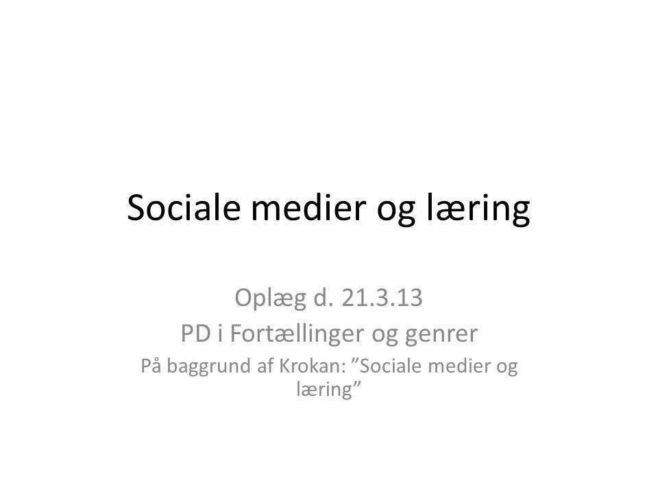 Sociale medier og læring