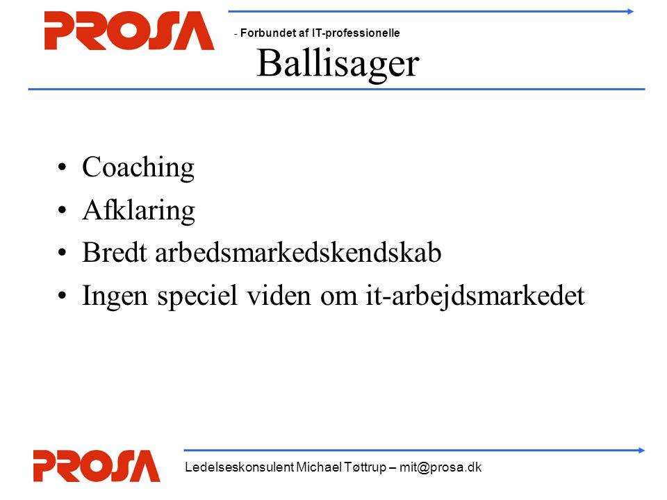 Ballisager Coaching Afklaring Bredt arbedsmarkedskendskab