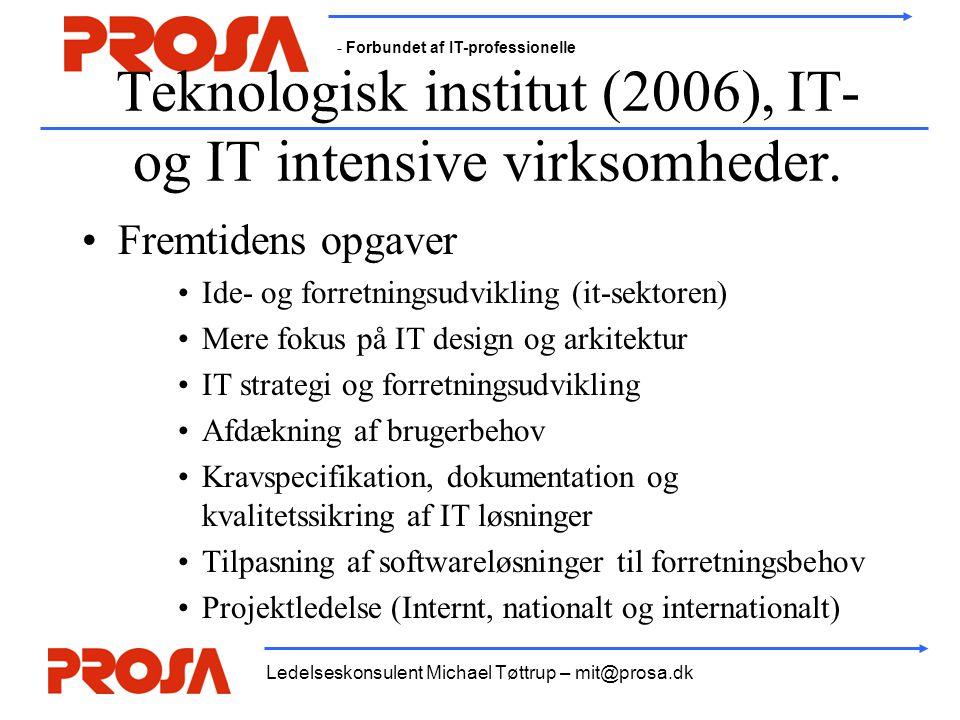 Teknologisk institut (2006), IT- og IT intensive virksomheder.