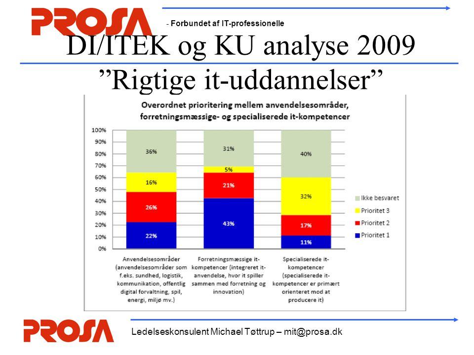 DI/ITEK og KU analyse 2009 Rigtige it-uddannelser