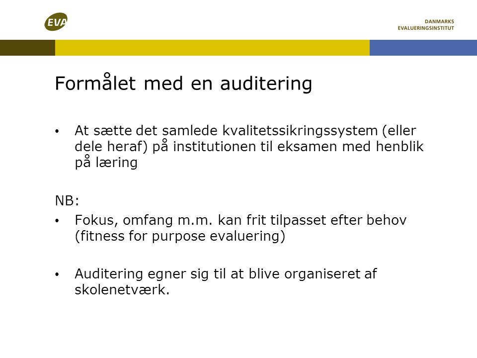 Formålet med en auditering