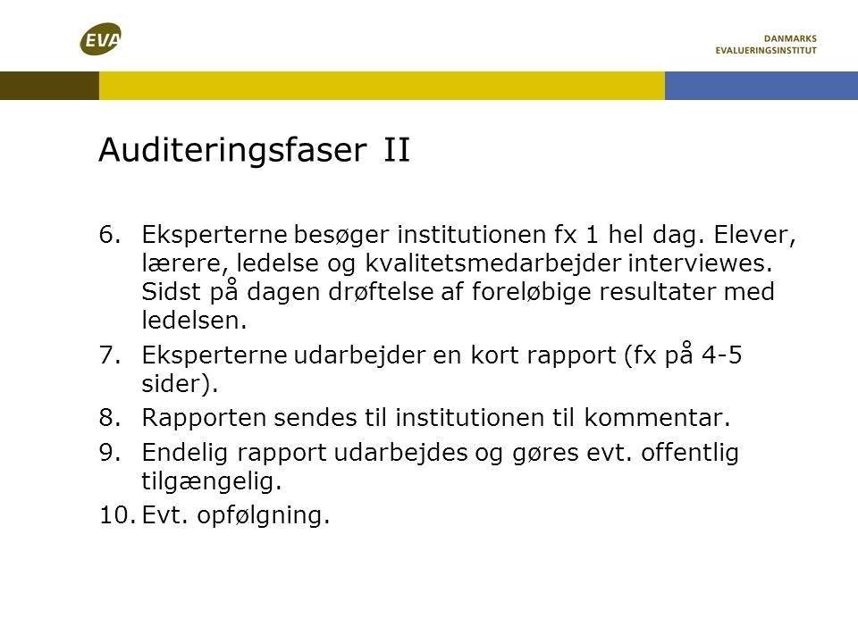 Auditeringsfaser II