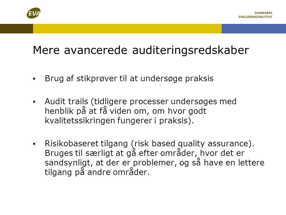 Mere avancerede auditeringsredskaber