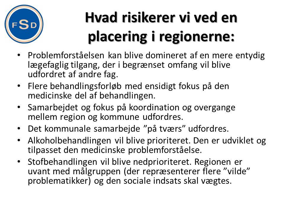 Hvad risikerer vi ved en placering i regionerne: