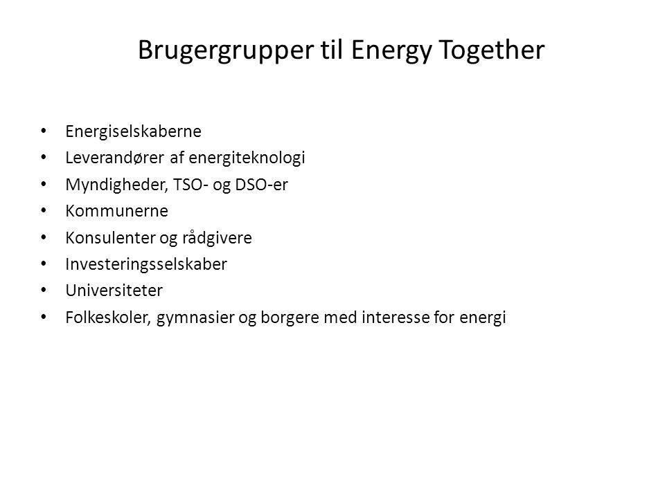 Brugergrupper til Energy Together