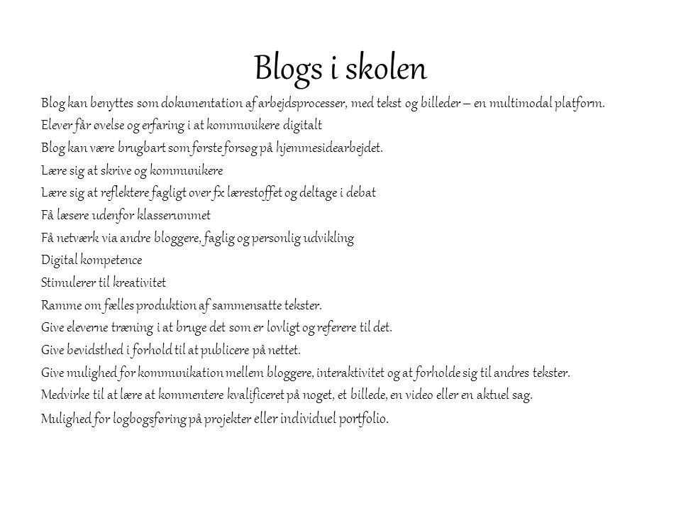 Blogs i skolen
