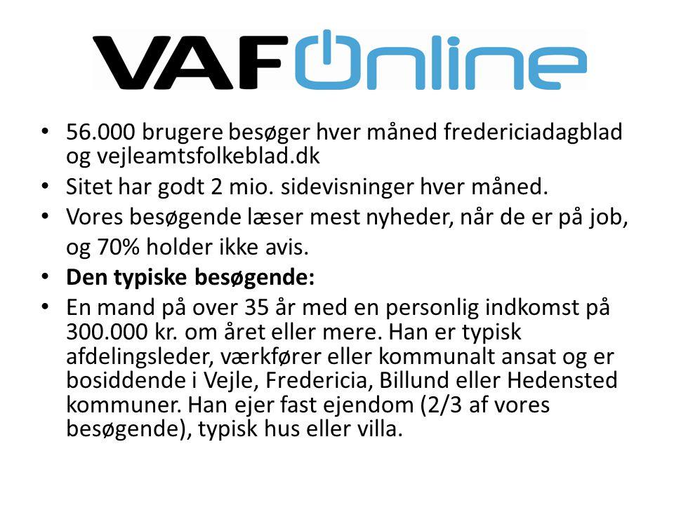 56.000 brugere besøger hver måned fredericiadagblad og vejleamtsfolkeblad.dk