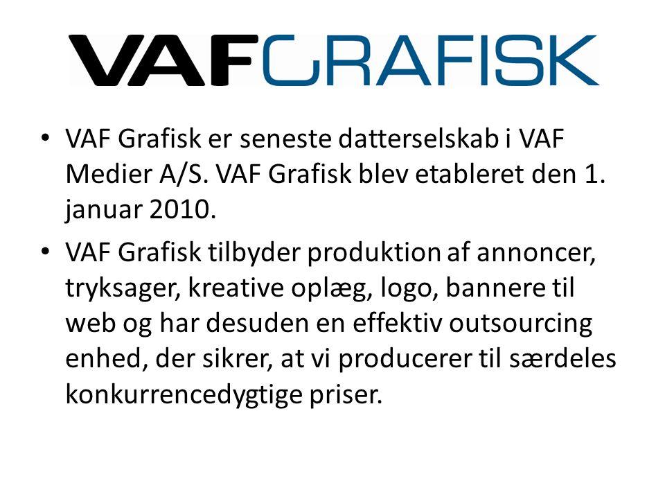 VAF Grafisk er seneste datterselskab i VAF Medier A/S