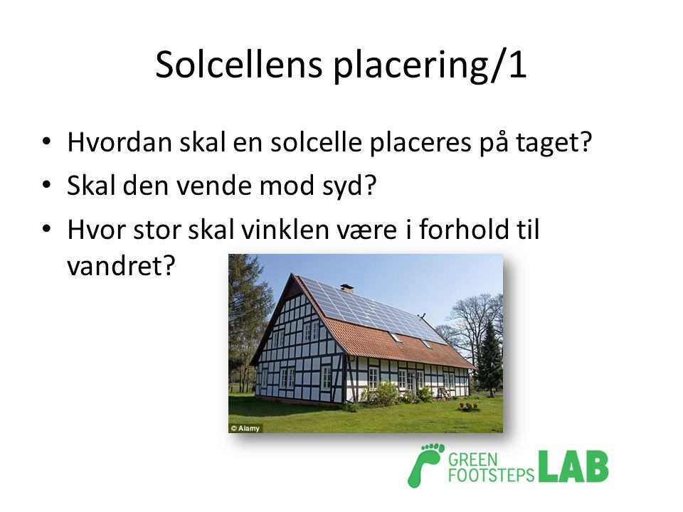Solcellens placering/1