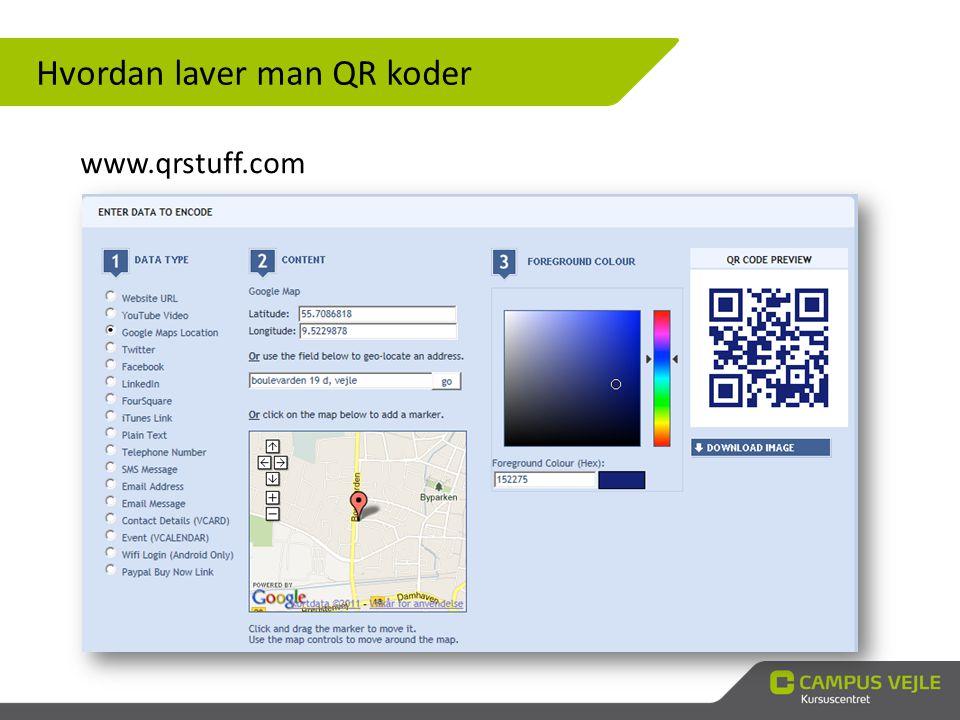 Hvordan laver man QR koder