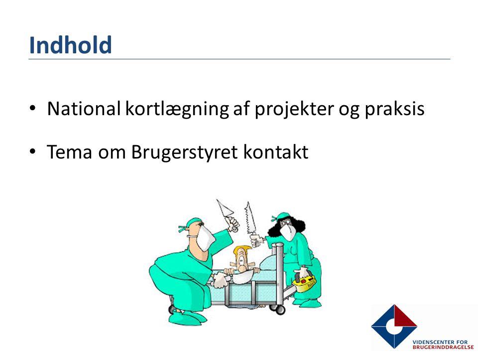 Indhold National kortlægning af projekter og praksis