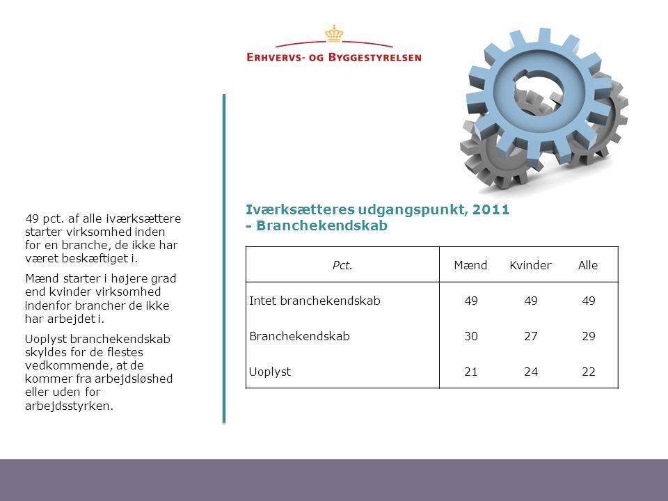Iværksætteres udgangspunkt, 2011 - Branchekendskab