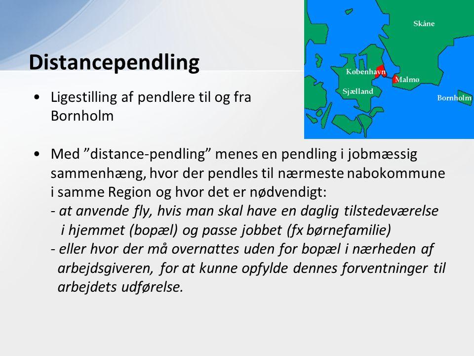 Distancependling Ligestilling af pendlere til og fra Bornholm