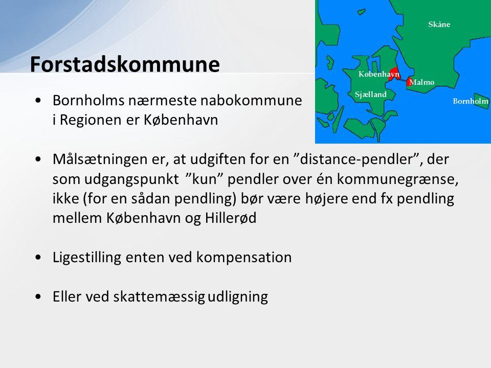 Forstadskommune Bornholms nærmeste nabokommune i Regionen er København