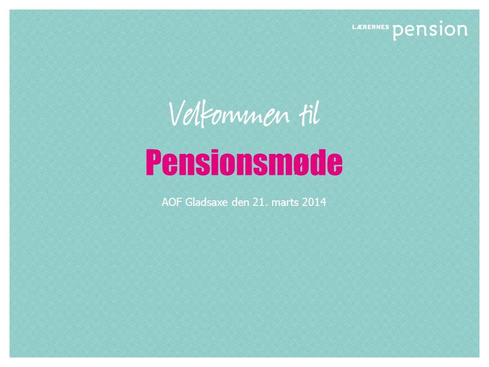 Pensionsmøde AOF Gladsaxe den 21. marts 2014