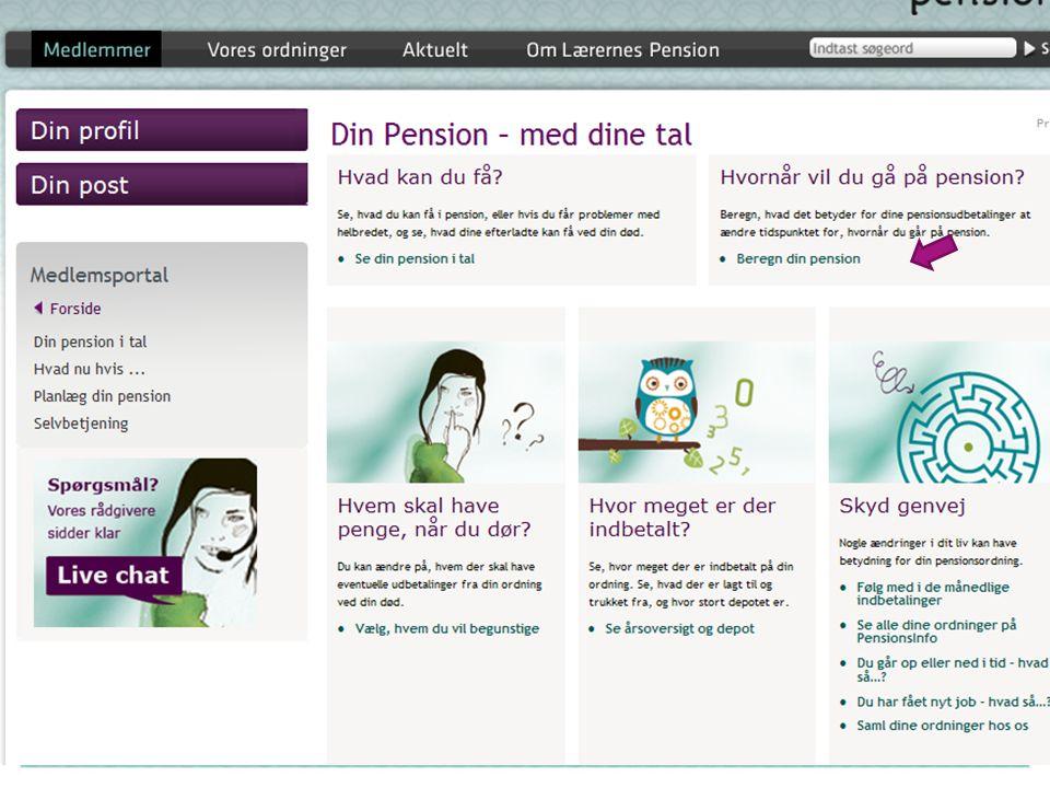 Forklar hvad de kan finde her på Din Pension
