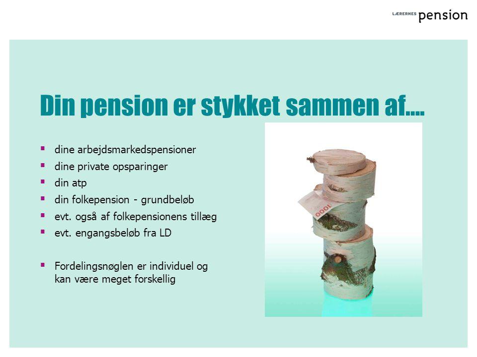 Din pension er stykket sammen af….