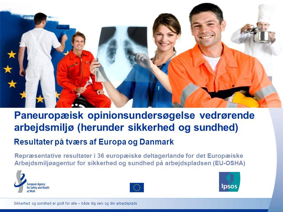 Paneuropæisk opinionsundersøgelse vedrørende arbejdsmiljø (herunder sikkerhed og sundhed)