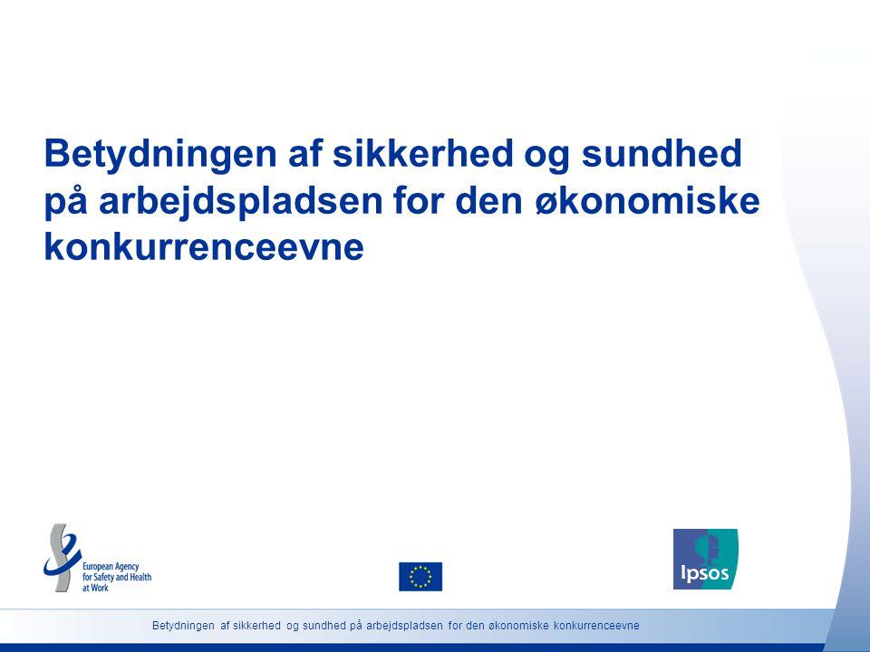 Betydningen af sikkerhed og sundhed på arbejdspladsen for den økonomiske konkurrenceevne