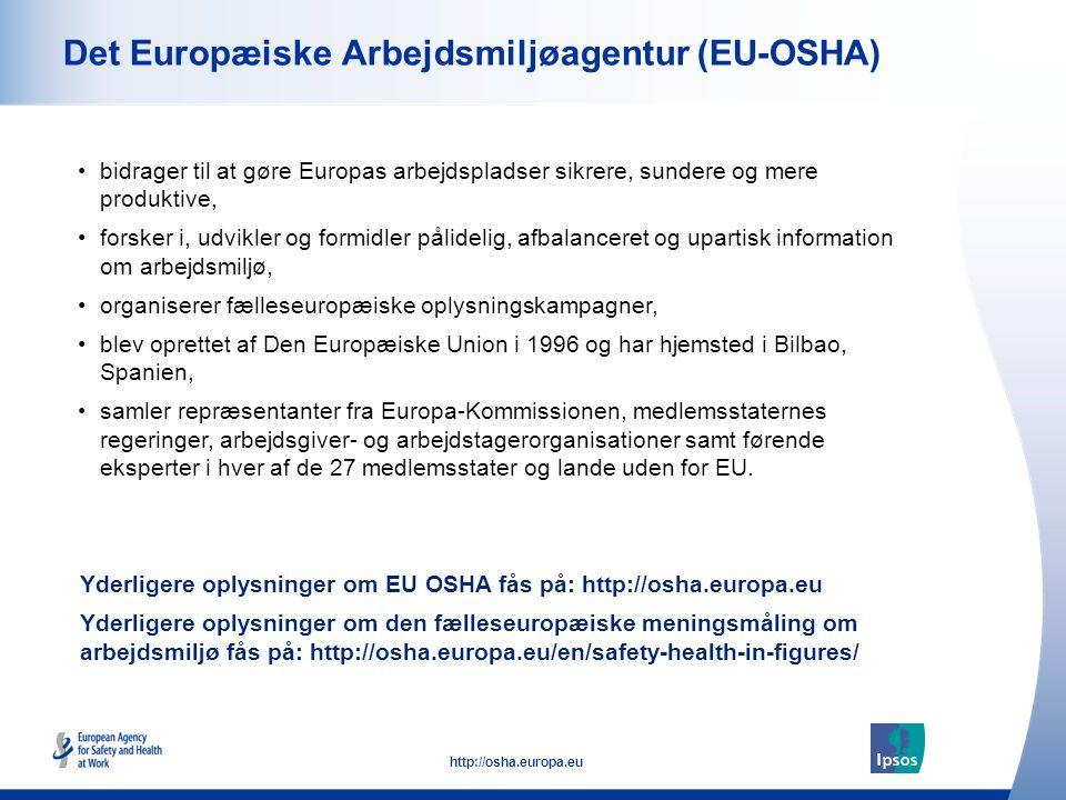 Det Europæiske Arbejdsmiljøagentur (EU-OSHA)
