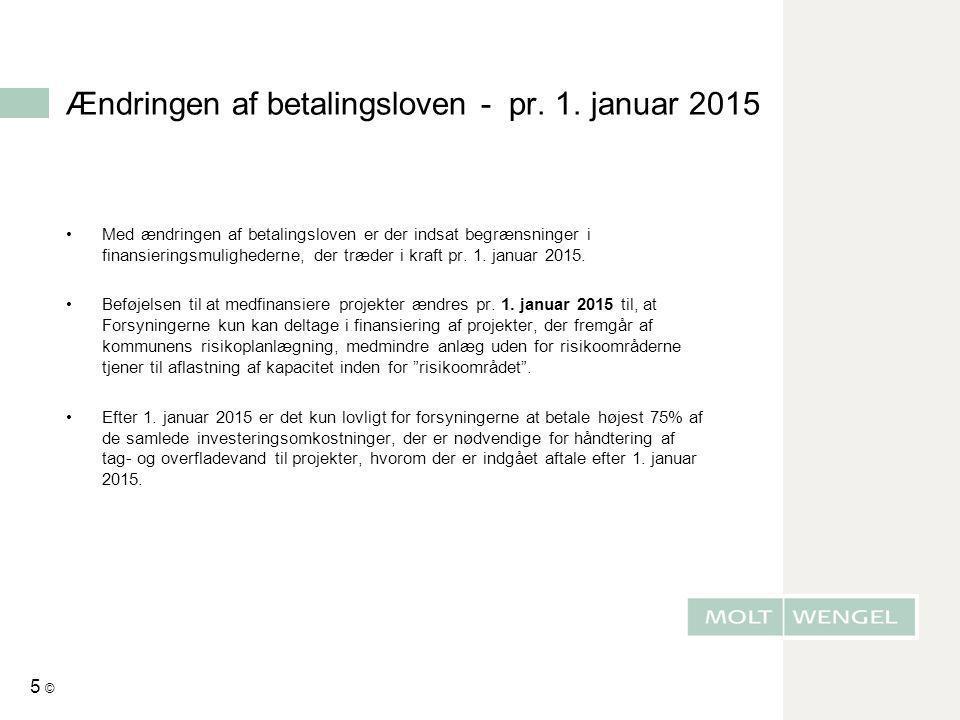 Ændringen af betalingsloven - pr. 1. januar 2015