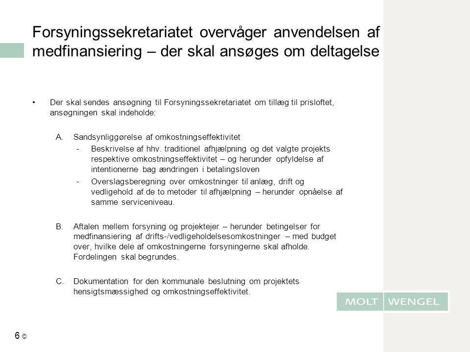 Forsyningssekretariatet overvåger anvendelsen af medfinansiering – der skal ansøges om deltagelse