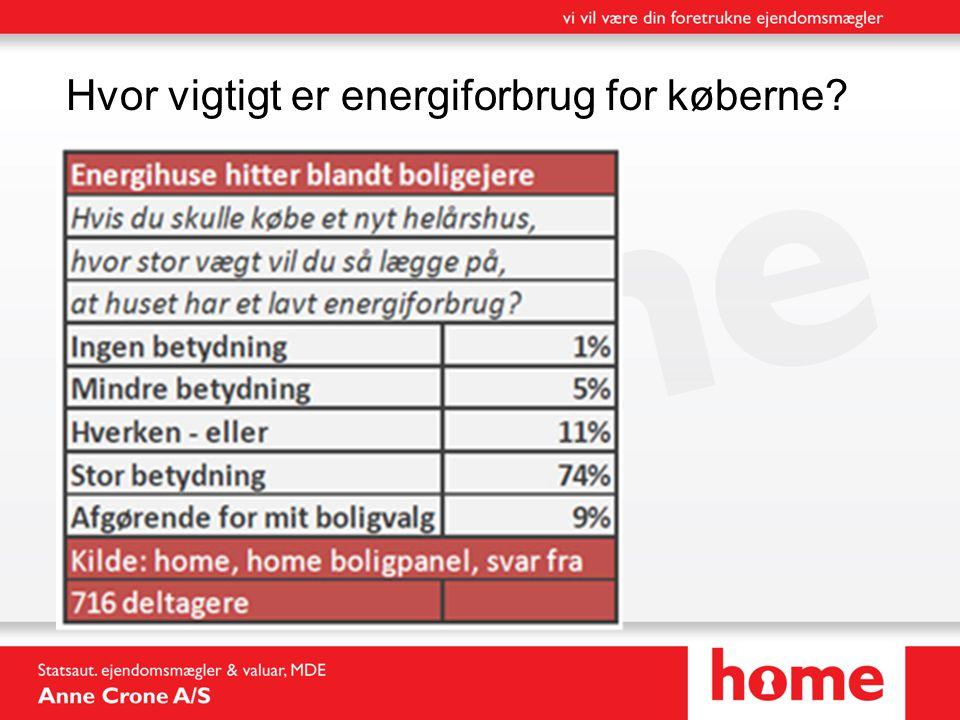 Hvor vigtigt er energiforbrug for køberne