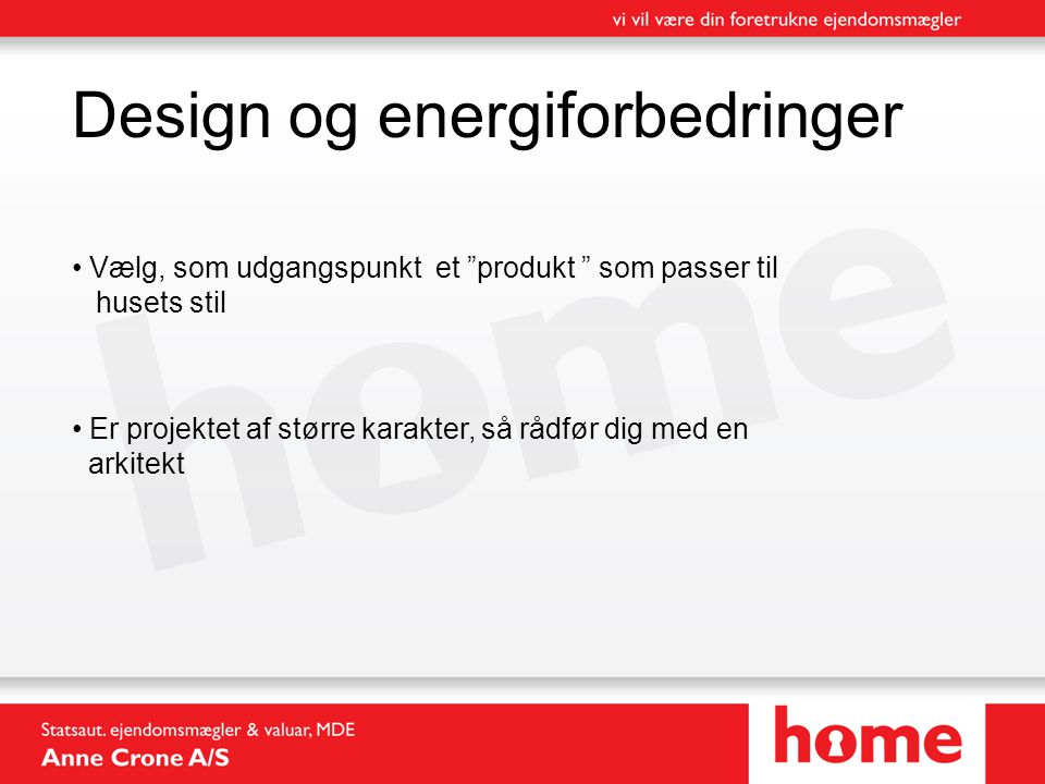 Design og energiforbedringer