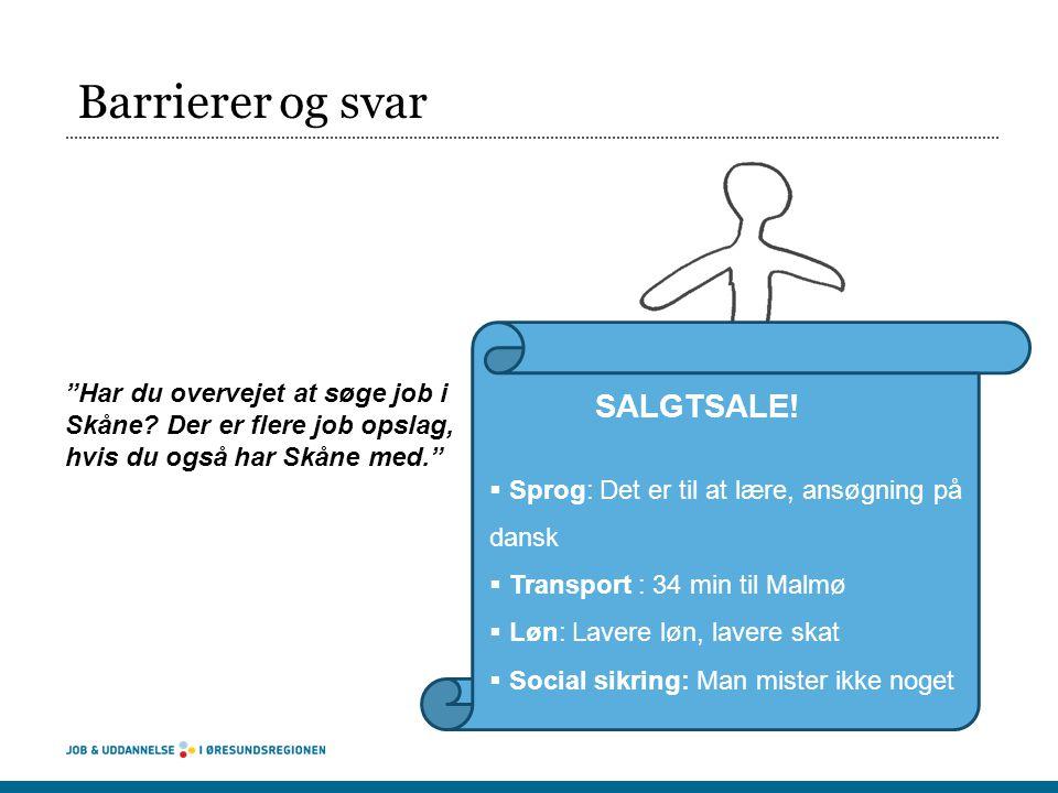 Barrierer og svar Har du overvejet at søge job i Skåne Der er flere job opslag, hvis du også har Skåne med.