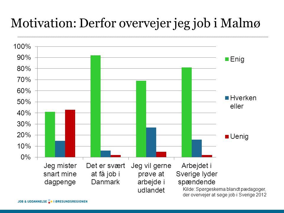 Motivation: Derfor overvejer jeg job i Malmø