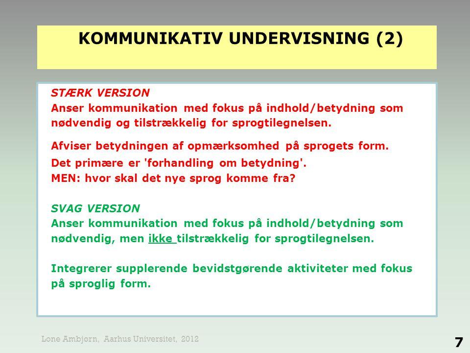 kommunikativ undervisning (2)