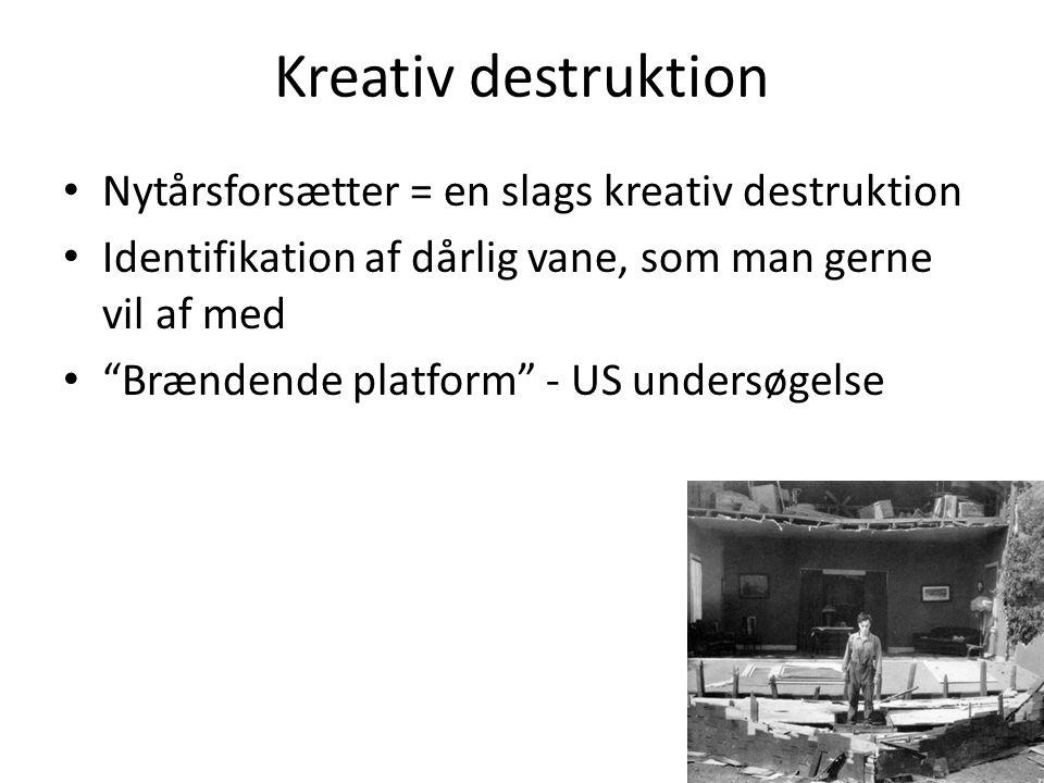Kreativ destruktion Nytårsforsætter = en slags kreativ destruktion