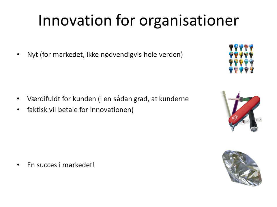 Innovation for organisationer